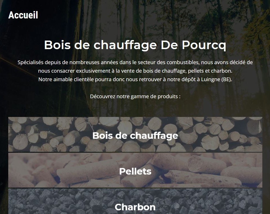 Bois de chauffage De Pourcq